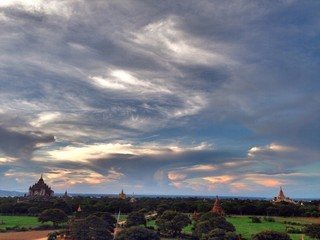 Sunset at Bagan, Myanmar.