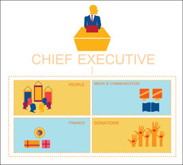 Chief executive info graphic