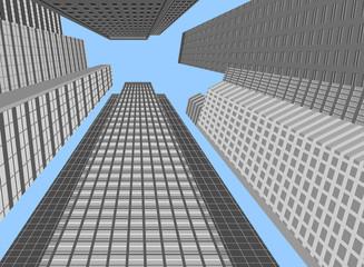 Skyscraper modern building