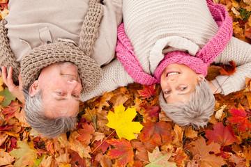 best ager autumn couple
