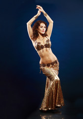 belly dancer in gold
