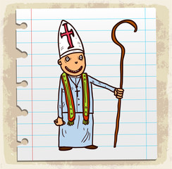 Cartoon priest illustration