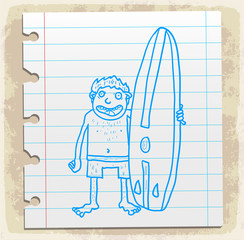 Cartoon surf  illustration