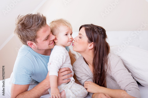 canvas print picture happy family