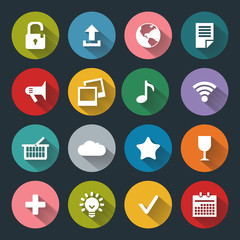 Flat icons for web and mobile