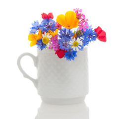 Wildflowers in cup