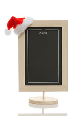 Christmas menu chalkboard