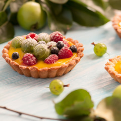 Delicious berries tarts