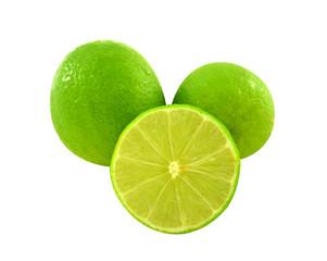 Lemon white background