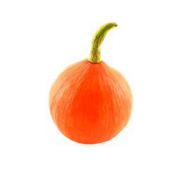 Japanese pumpkin, white background
