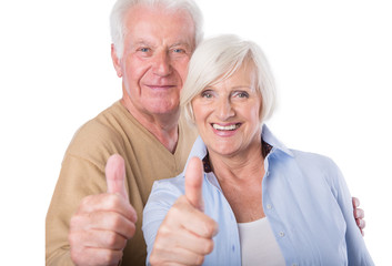 positives älteres ehepaar