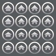 Vector of transparent icon, home set on isolated background