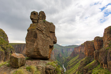 Rock figures looking down the valley