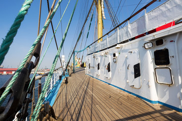 sailing boat pictured from on board