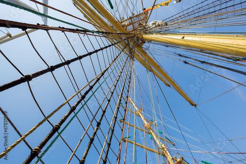 Leinwandbild Motiv Mast of old sailing ship