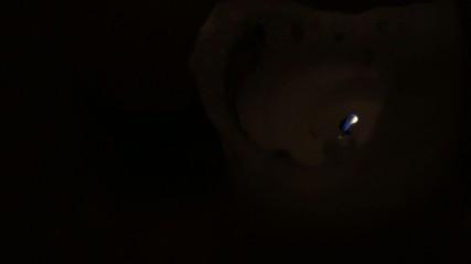 candela che si spegne