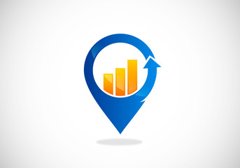 business-finance-location-vector-logo