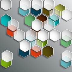 Background with transparent hexagons