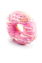 glazed donuts, isolated on white background