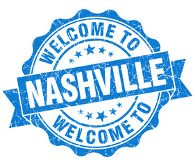 welcome to Nashville blue vintage isolated seal