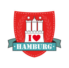 I love Hamburg Emblem