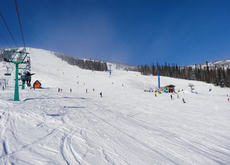 Skiing resort  Sheregesh.