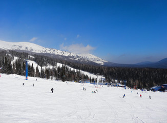 Skiing resort  Sheregesh