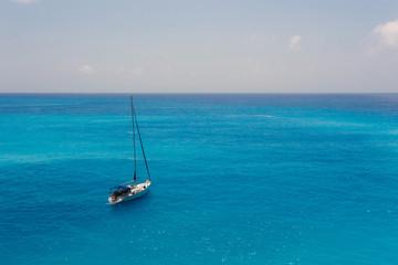 Sailboat on the Ionian sea