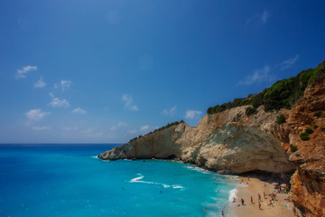 The Porto Katsiki beach (Lefkada)