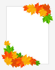 abstract background with maple leaves