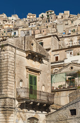 traditional houses of modica in sicily italy