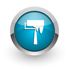 brush blue glossy web icon