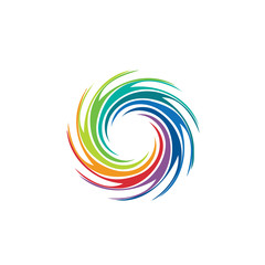 Abstract colorful swirl image logo