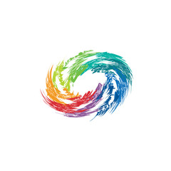 Abstract colorful swirl image. Concept of hurricane, twister
