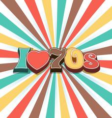 I love 70s Vector Vintage Art Background