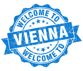 welcome to Vienna blue vintage isolated seal