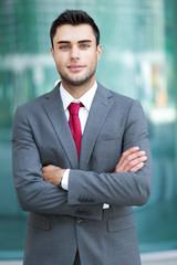 Confident businessman outdoor