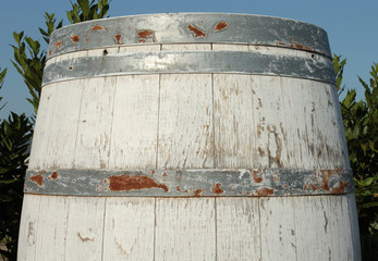 Vecchia botte di vino Chianti