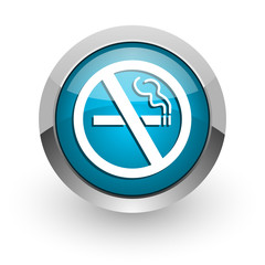 no smoking blue glossy web icon