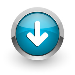 download arrow blue glossy web icon