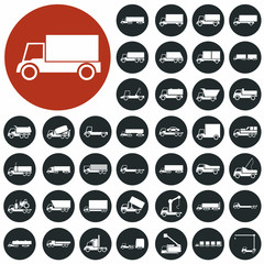 Truck icons set