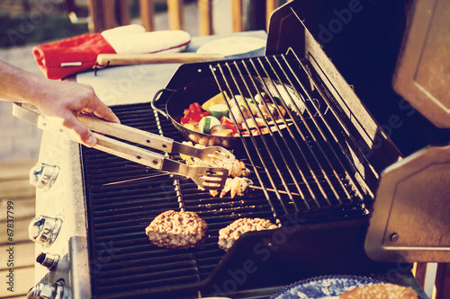 Foto Spatwand Barbecue Grill