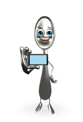 Spoon character with mobile