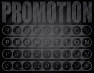 Promotion word design