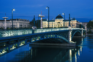 Famous bridge and University in Lyon