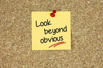 Look beyond obvious. Cork