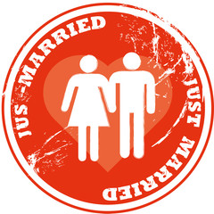 Jus Married Button 2207