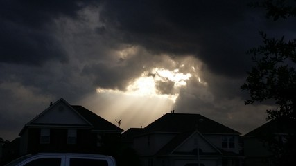Ray of sunshine breaks through clouds