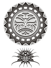 Ethnic Suns tribal vector illustration