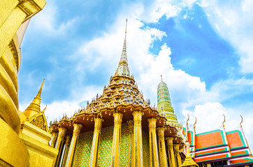wat phra kaew Royal Thai Buddhism temple in Bangkok ,Thailand.